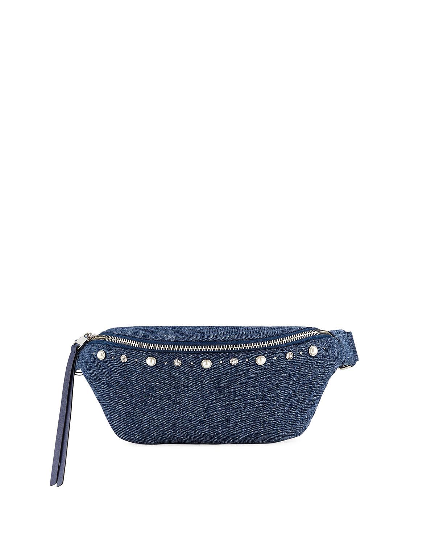 Bree Denim Pearly Belt Bag