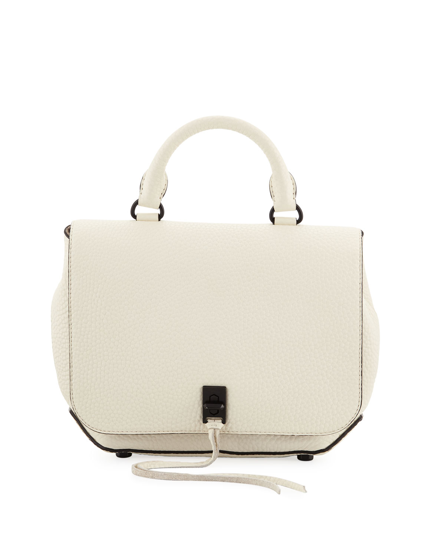 Darren Medium Convertible Leather Backpack, Antique White
