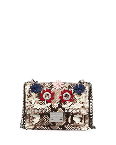 Christy Small Snake-Print Shoulder Bag
