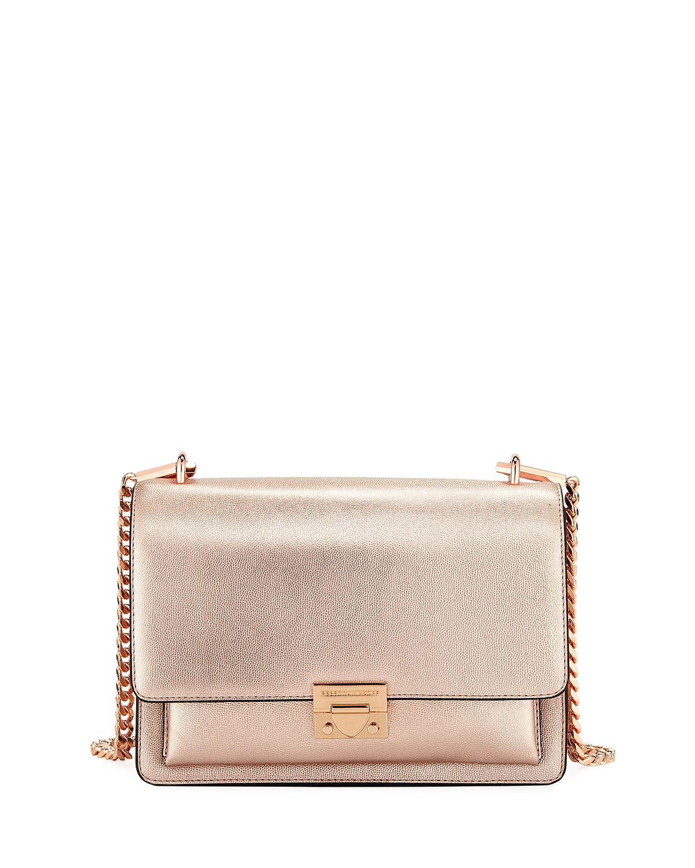 Christy Medium Metallic Leather Shoulder Bag
