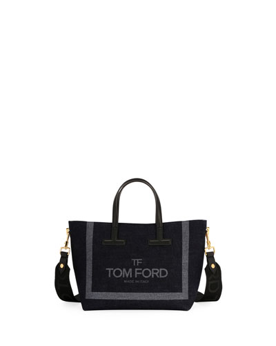 9f26e5b4a6dc Quick Look. TOM FORD · T Tote Mini Denim Logo Crossbody Bag