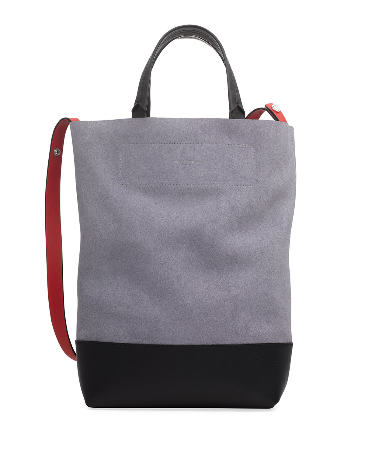 Walker Convertible Tall Suede/Leather Tote Bag