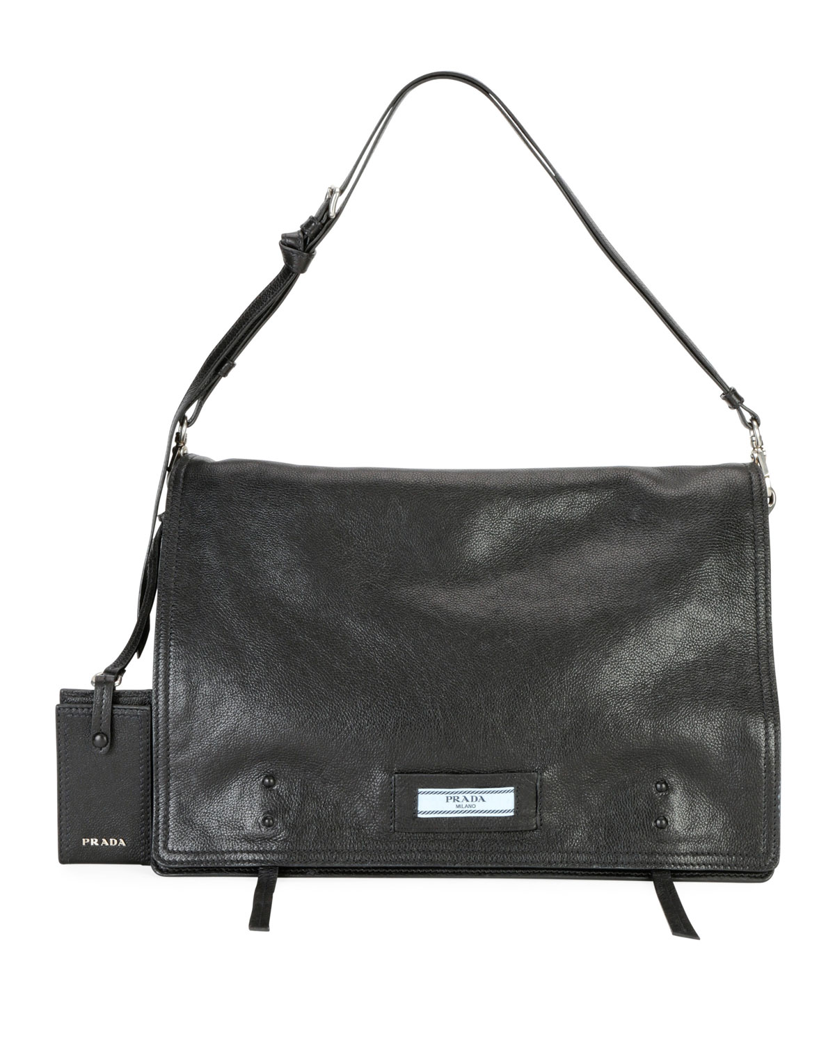 Large Glace Calf Etiquette Shoulder Bag