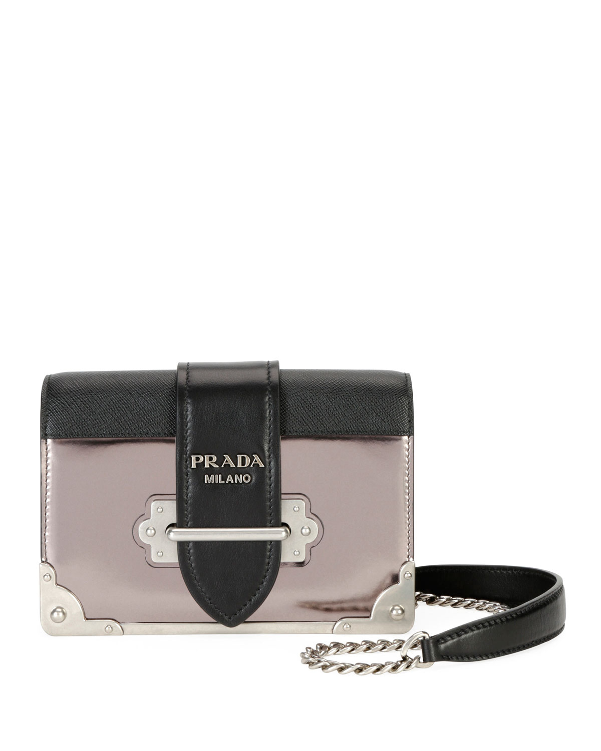 Cahier Small Metallic Crossbody Bag