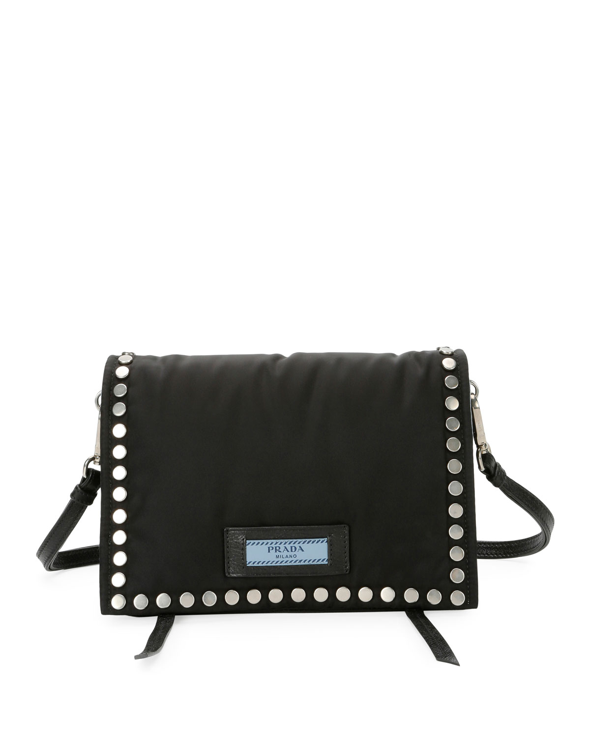 Small Studded Tessuto Etiquette Bag