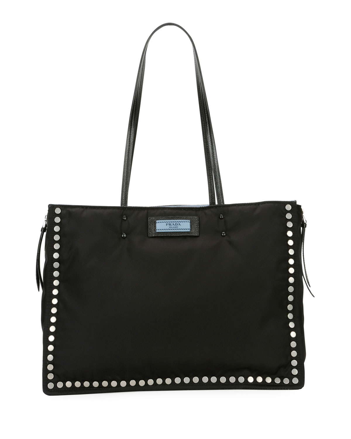 Studded Tessuto Etiquette Shopper Bag