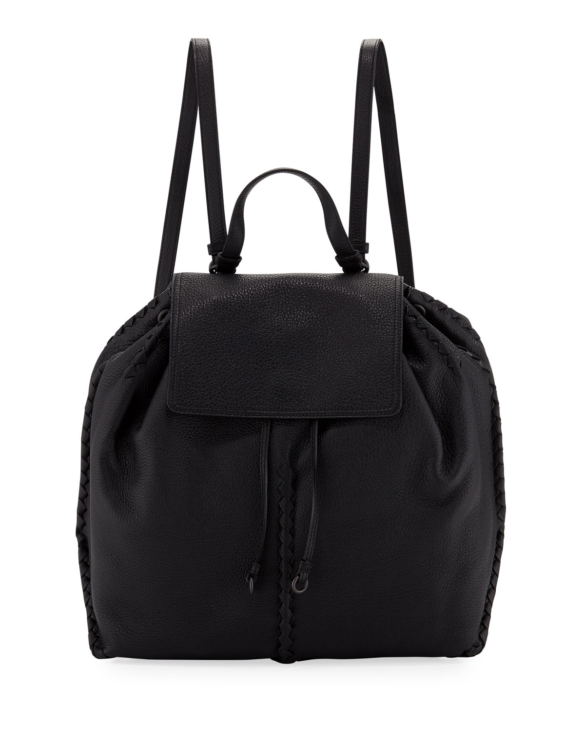 Cervo Leather Flap Backpack