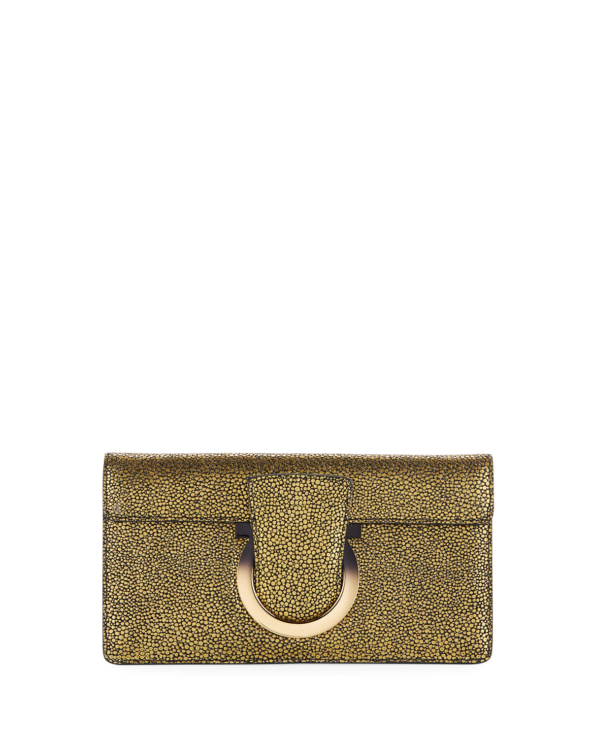 THALIA SMALL SPECKLED SUEDE COCKTAIL CLUTCH BAG from Neiman Marcus