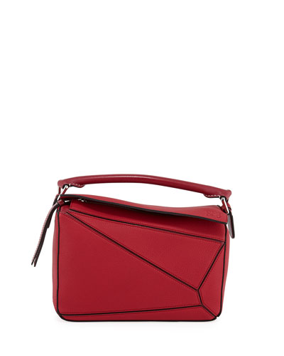 Puzzle Small Grained Satchel Bag