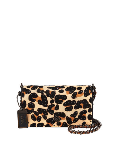 Haircalf Leopard Dinky Crossbody Bag