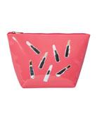 Avery Scattered Lipsticks Vinyl Bag