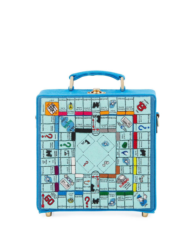 Paris Monopoly Game Board Box Shoulder Bag