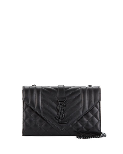 Monogram YSL Envelope Small Chain Shoulder Bag
