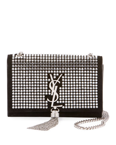 Kate Monogram Small Tassel Chain Crossbody Bag with Crystals - Miroir Hardware