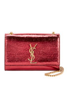 Saint Laurent Kate Monogram YSL Small Crackled Metallic