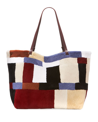 cce76f5fc35f Quick Look. THE ROW · Patchwork Fur Shopper Tote Bag