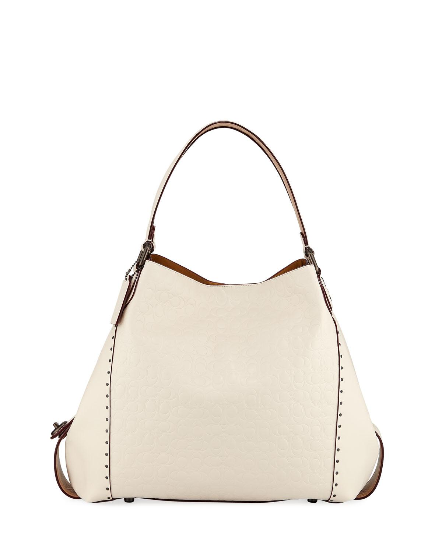 Edie 42 Signature Leather Hobo Bag