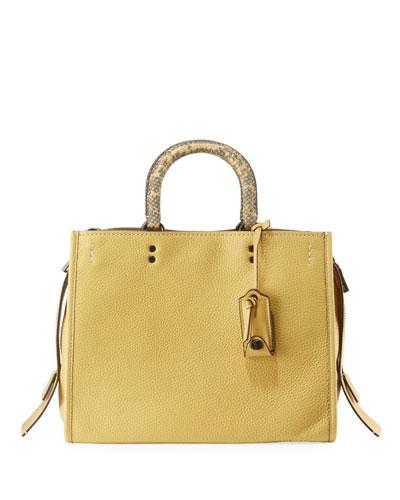 564b44b7fce3 Leather Fall Tote Bag