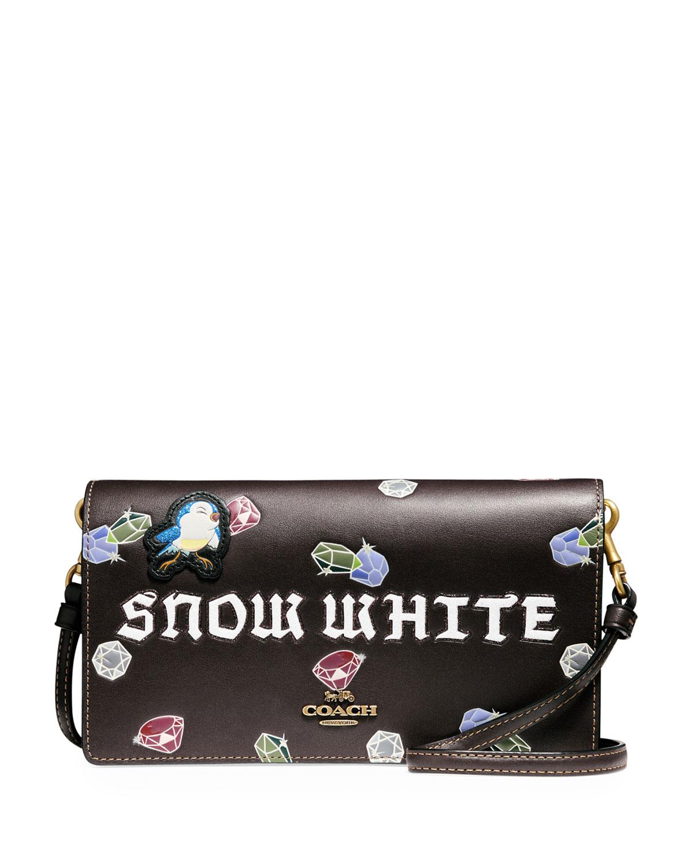 DISNEY X COACH Snow White Fold-Over Crossbody Clutch Bag