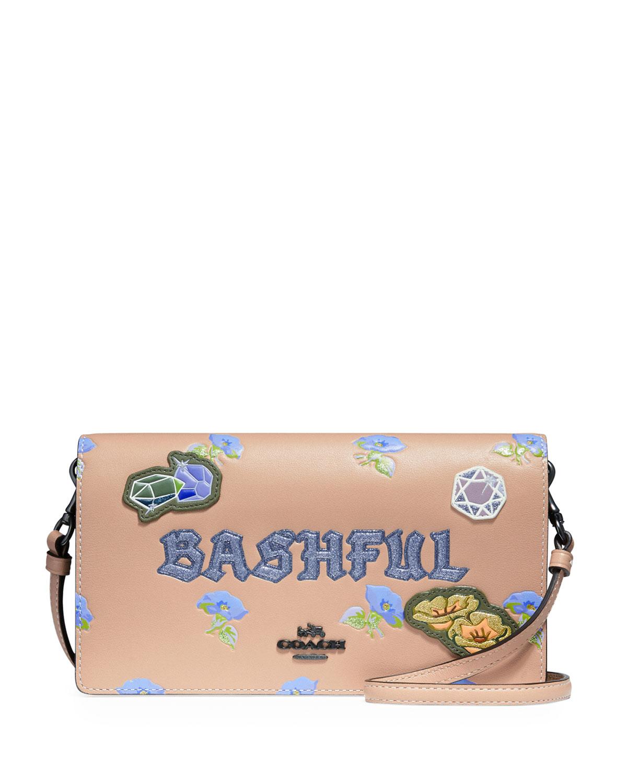 DISNEY X COACH Bashful Fold-Over Crossbody Clutch Bag