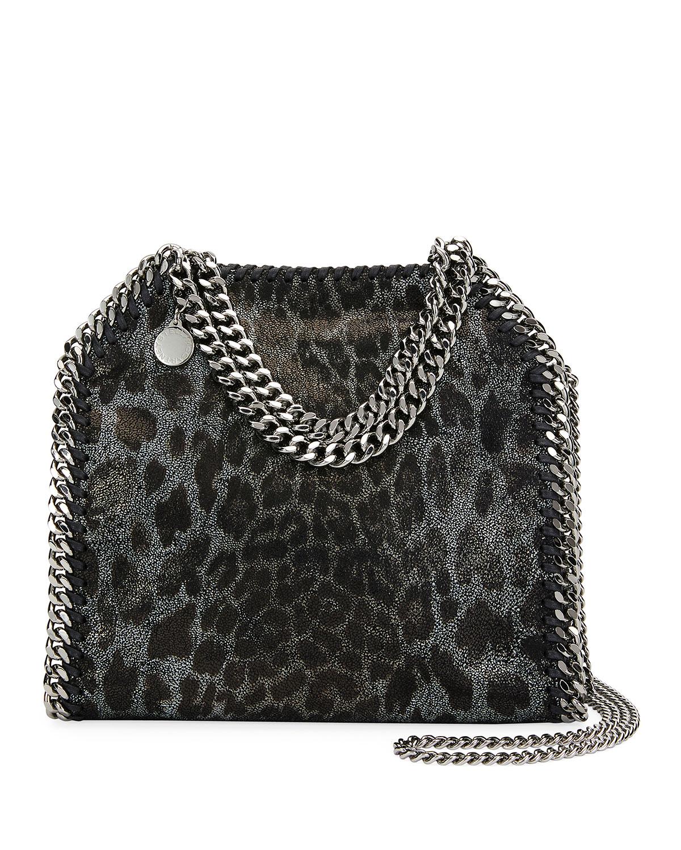 Mini Leopard Falabella Tote Bag