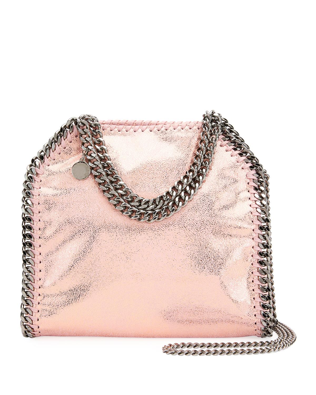 Mini Falabella Metallic Chain Tote Bag