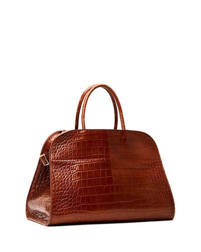 Margaux 15 Alligator Top-Handle Bag