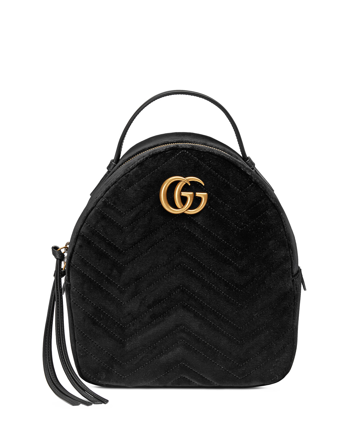 GG Marmont Quilted Velvet Backpack