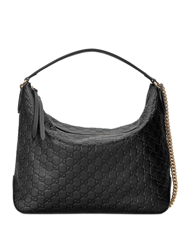 Linea A Large Guccissima Leather Hobo Bag