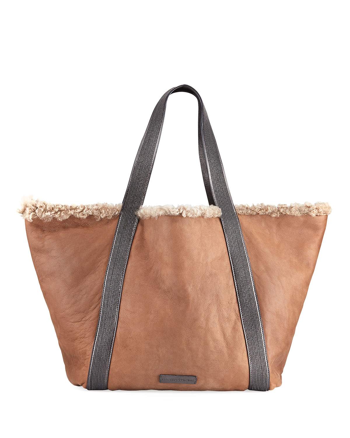 Reversible Shearling Fur Tote Bag