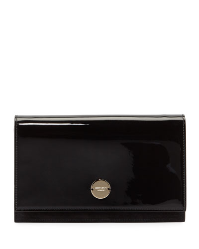 Quick Look Jimmy Choo Florence Patent Leather Crossbody Bag Available In Black