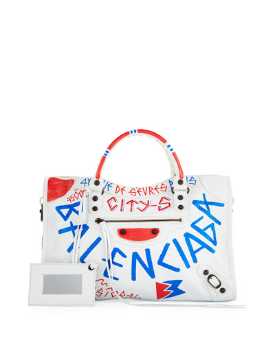 Classic City Graffiti Satchel Bag