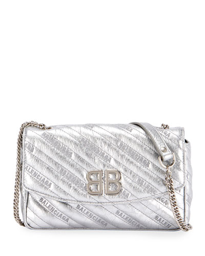 451b66a44a08 Quick Look. Balenciaga · BB Chain Metallic Logo Crossbody Bag