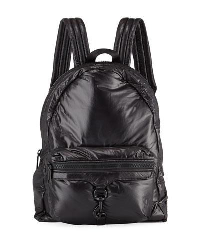 Riley Tall Puffy Backpack, Black