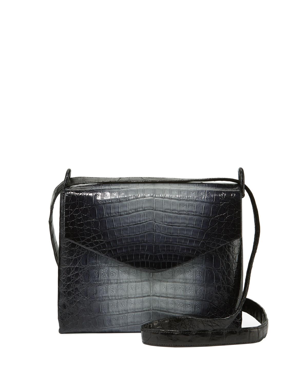 Ombre Crocodile Crossbody Bag