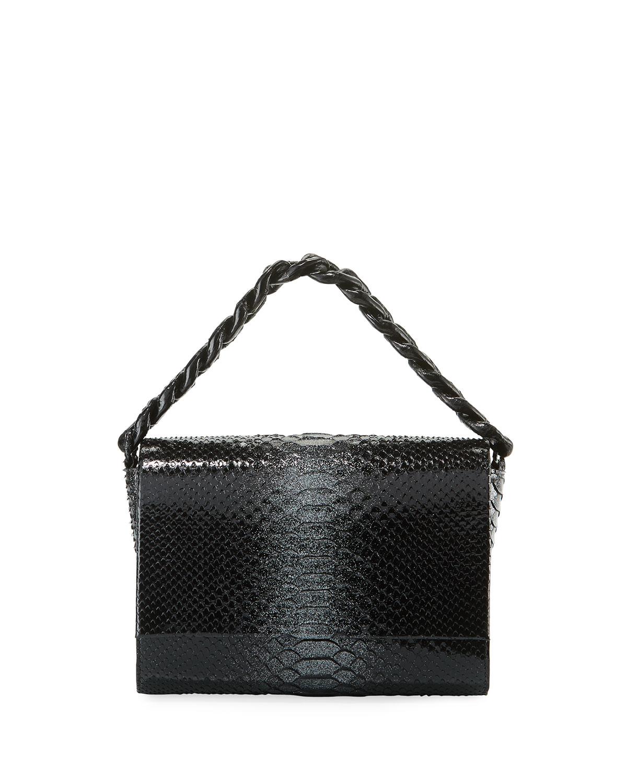 Carrie Crocodile and Python Clutch Bag