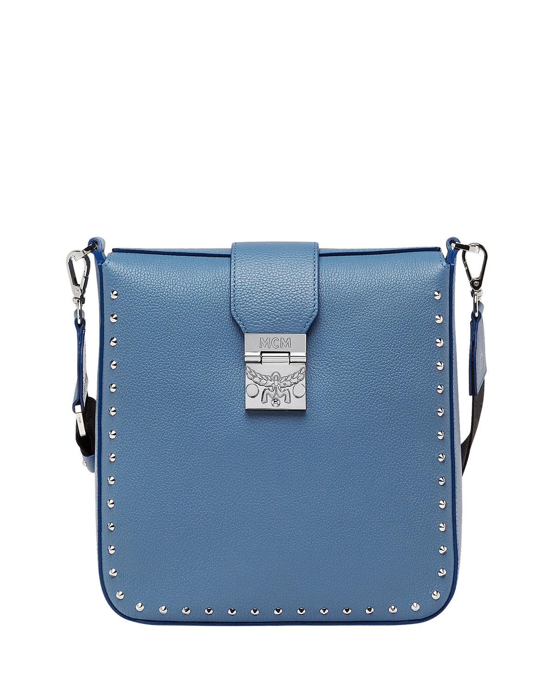 Kasion Medium Studded Outline Park Avenue Crossbody Messenger Bag