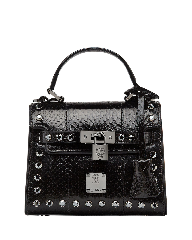Neo Heritage Exotic Crystal Satchel Bag