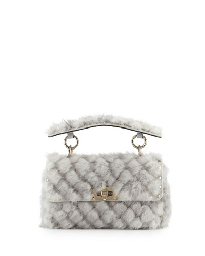 Spike.It Small Embellished Mink Shoulder Bag