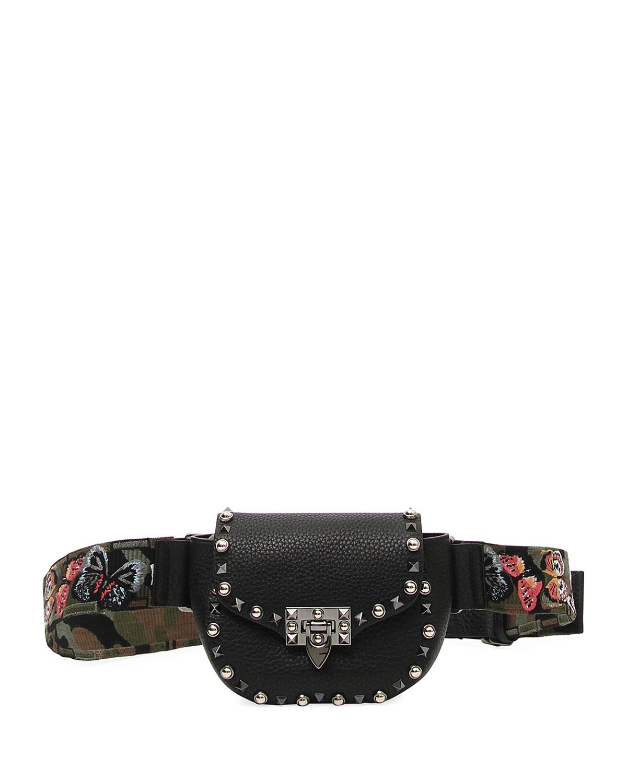 Guitar Rockstud Rolling Belt Bag/Fanny Pack