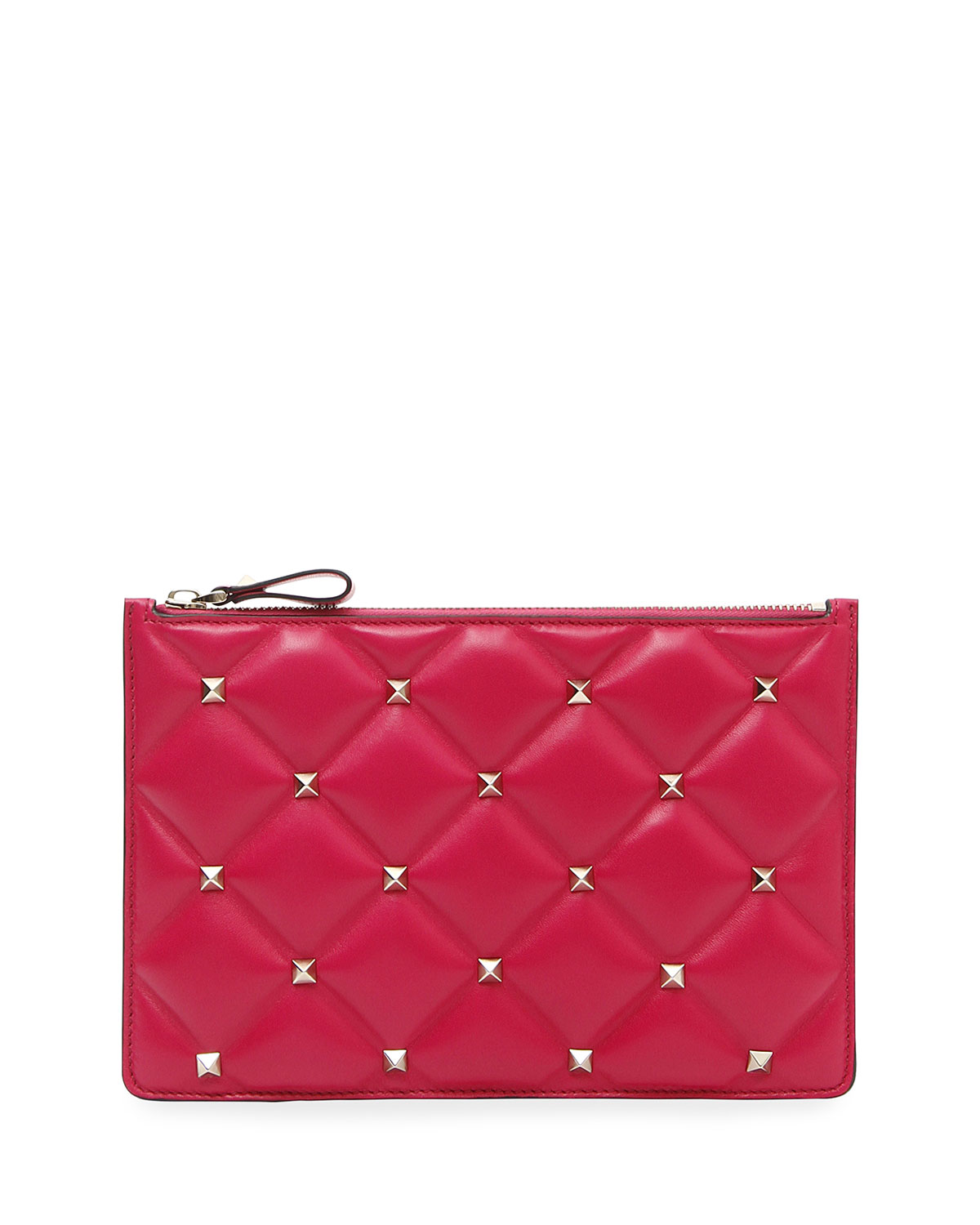 Candystud Medium Flat Quilted Leather Pouch Bag