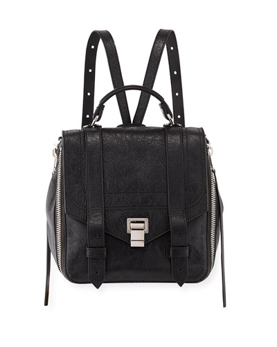 PS1 Zip Paper Leather Backpack