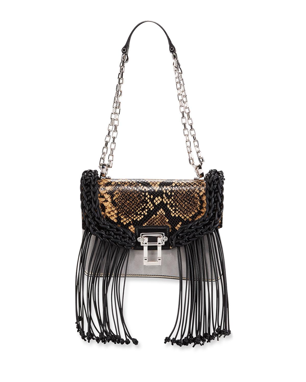 Hava Python-Embossed Shoulder Bag