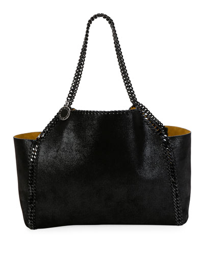 Falabella Medium Reversible Tote Bag with Black Chain