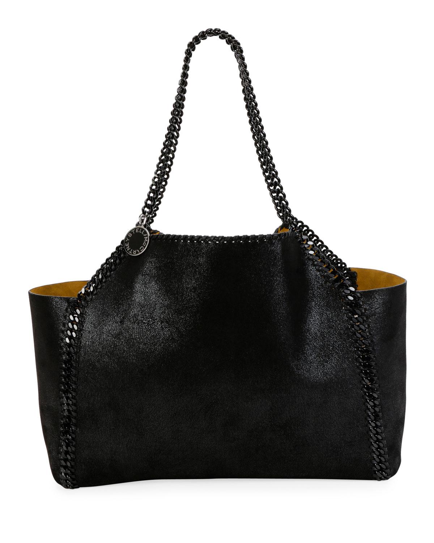 Falabella Medium Reversible Tote Bag with Black Chain