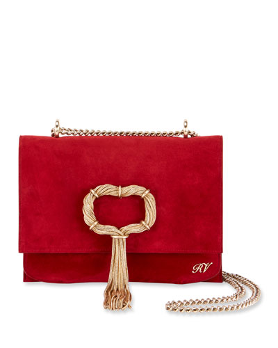 365576a844 Quick Look. Roger Vivier · Club Chain Suede Evening Clutch Bag