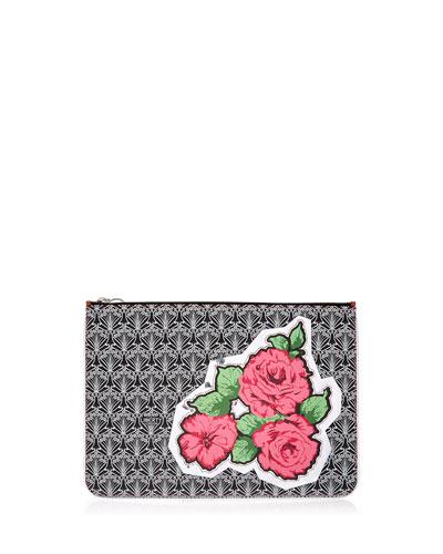 RQ Rose Canvas Pouch Bag