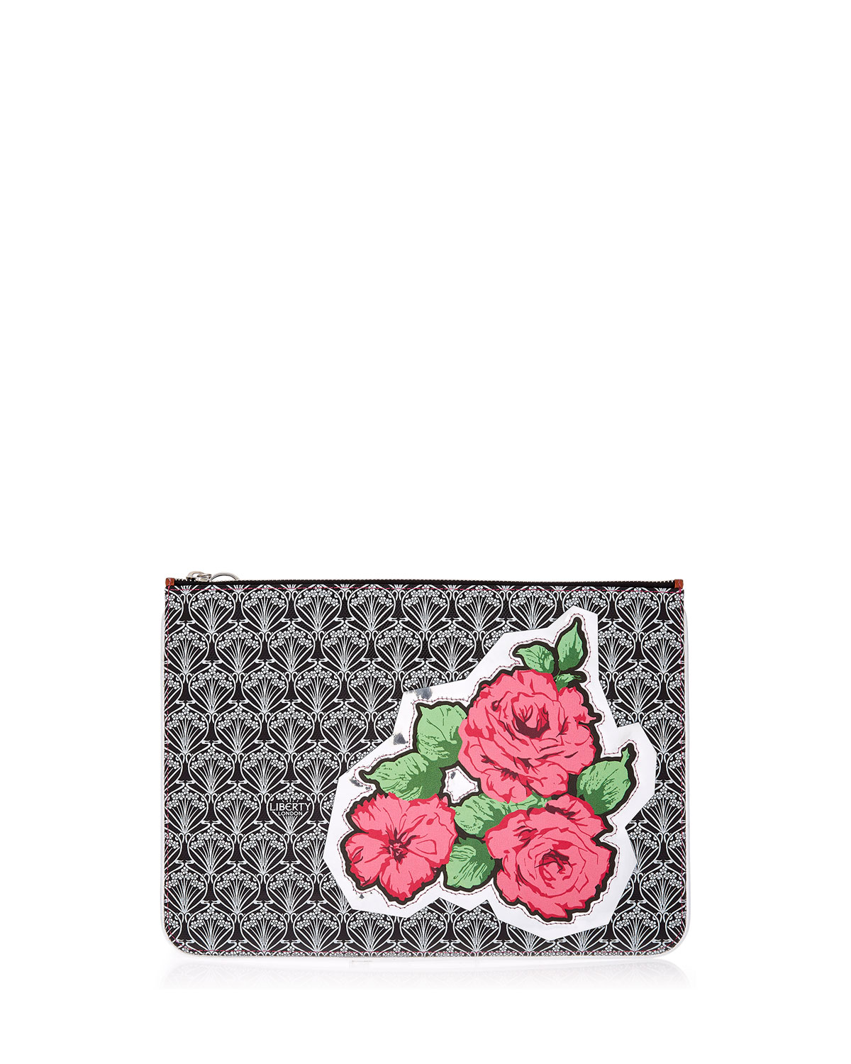 Rq Rose Canvas Pouch Bag in Black Pattern