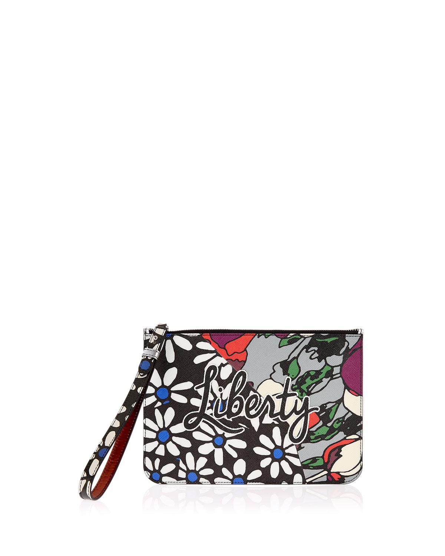 RQ Daisy Tulip Wristlet Pouch Bag
