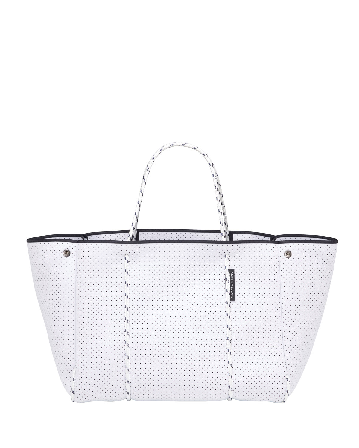 Escape Perforated Tote Bag, White